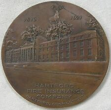 Hartford Fire Insurance Company 110th Anniversary Medal, 1921 by J. Swanson