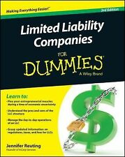 Limited Liability Companies for Dummies by Jennifer Reuting (2014, Paperback)