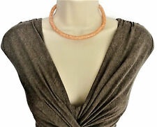 Sparkly! Mesh Crystal Diamante Choker Necklace Torque Style in Rose Gold Tone