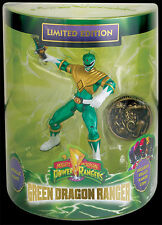 SDCC 2013: Power Rangers GREEN RANGER Figure + TRIBAL COIN (MIB), Bandai
