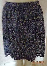 INDIGO COTTON FLAT FRONT GREEN MIX FAIRYTALE PRINT SKIRT SZE 8 &10 CLEARANCE