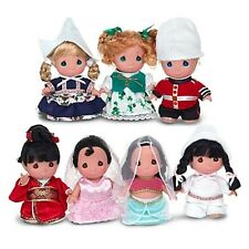 "Disney Parks Precious Moments It's a SMALL WORLD 50th 7 Mini 5"" Doll Set"