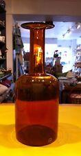 """Holmegaard Kastrup Gulvase Orange/ Brown Glass 14.5"""" Tall"""