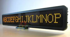 Yellow Programmable LED Message Sign Scrolling Moving Board Display Panel 21""
