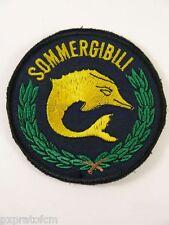Patch Toppa Militare Sommergibili Marina Militare Fondo Blu con Velcro