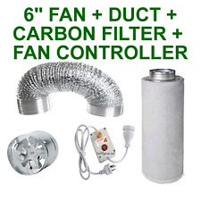 "6""/150MM - INLINE FAN + CARBON FILTER + CONTROLLER + ALUMINIUM DUCTING GROW TENT"
