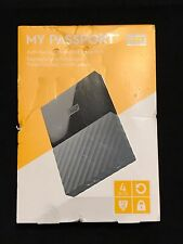 Western Digital WD My Passport X 4TB External USB 3.0 Portable Hard Drive Black
