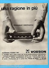 QUATTROR964-PUBBLICITA'/ADVERTISING-1964- VOXSON AUTORADIO TOURIST 790