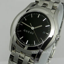 Mens Authentic Swiss Gucci G-Class 5500 XL Stainless Black Dial YA055211 Watch