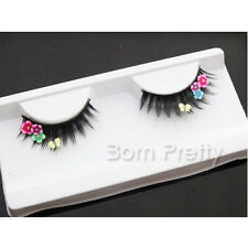 1Pair Colorful Flower Butterfly False Eyelash For Beauty Party Stage Eye Makeup