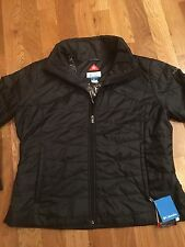 Women's Plus Columbia Omni-Heat Puffy jacket coat winter 1X Parka 1XL XL Black