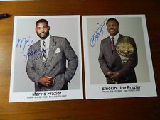 "SMOKIN JOE FRAZIER & MARVIS FRAZIER 8"" X 10"" GLOSSY AUTOGRAPHED PHOTOS (1 each)"