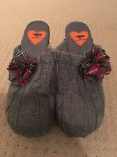 Rocket Dog Grey Knitted Heels Clogs Size 8