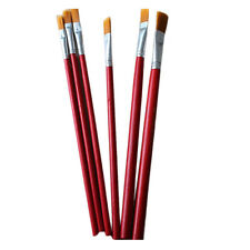 6Pcs Artist Paint Brush Set Nylon Hair Watercolor Oil Painting Supplies Red Sale
