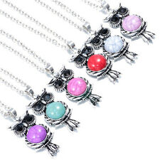 6pcs Wholesale Vintage Owl Pendant Necklace Long Chain Rhinestone Jewelry NEW