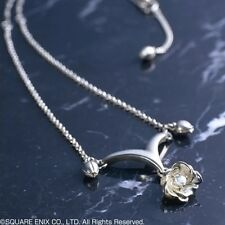 Final Fantasy X-2 Yuna Silver Pendant Necklace Aquamarine Stone&Chain,From Japan