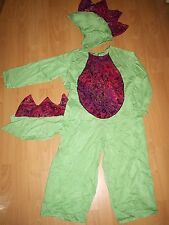 DRAGON DINO COSTUME HANDMADE USA 122-128 UNIQUE green red Dragon costume