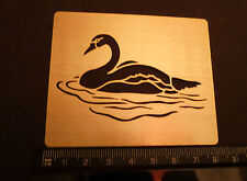 Brass/stencil/Oblong/Swan/Swimming/Embossing/emboss/NEW