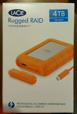Lacie 4TB Rugged RAID Thunderbolt & USB 3.0 External Hard Drive NEW