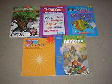 Lot of 5 Grade 3 - 6 Workbook Lot Vocabulary Language Reading Test Prep