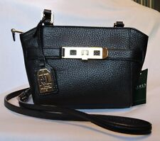 NWT RALPH LAUREN Darwin Black Leather Crossbody Messenger Handbag Purse Bag $178