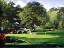 """Larry Dyke The 11th at Augusta Golf Print  12"""" x 9"""""""