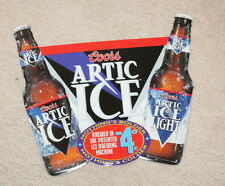 Coors Artic Ice / Artic Ice Light Metal Embossed Beer Sign Good Condition 18x16""