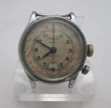 PIERCE CHRONOGRAPH WRIST WATCH SERIAL 8945, WORKING, ESTATE WWII NAVY PILOT ID'd