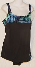 Blair Misses One Piece Slimming Swimsuit - Black with Trim - Size 20