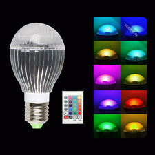 10W E27 E26 LED 16 Color Changing RGB Magic Light Bulb Lamp + IR Remote Control