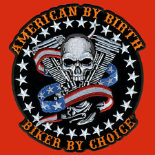 Skull Motor EMROIDERED IRON ON MC BIKER PATCH