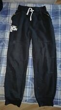 Boys Black tracksuit cuffed bottoms age 10-11