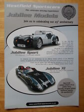 WESTFIELD Jubliee Sport & XI Limited Editions 2007 brochure - Lotus interest