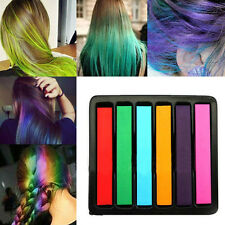 6PCS Super Convenient Colorful Chalk Hair Color AlcoholFree chalks for the hair