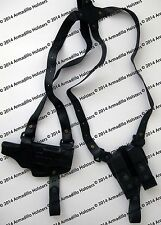 Black Leather Horizontal Shoulder Holster for Glock (P3)