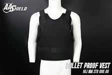 AA SHIELD Bullet Proof Vest Comfort Concealable Aramid NIJ IIIA 3A Size M Black