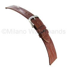 18mm Hadley Roma Genuine Teju Lizard Peanut Tan Flat Unstitched Watch Band 969