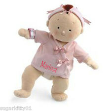 "PERSONALIZED Rosy Cheeks Soft Brunett Girl Baby Doll 15"" Tall 2855 Free Shipping"