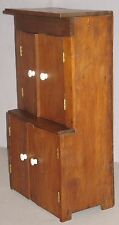 ANTIQUE FOLK ART CHILDS SOLID WALNUT TOY DOLL PRIMITIVE CUPBOARD ORIGINAL FINISH