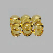 2mm 6pc Round CABOCHON Cut Natural Yellow Citrine