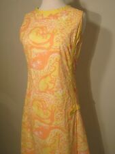 Vintage Lilly Pulitzer The Lilly Shift Dress yellow Kangaroo print - S/M