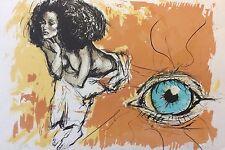 Léo Ferré oeuvre illustrée par Jacques Pecnard lithographie originale 1