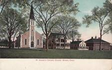 Antique POSTCARD c1905-07 St. Joseph's Catholic Church BRISTOL, CT 16616