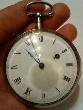 Large Antique Fusee Pocket Watch with Dust Proof Sight Glass