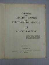 collection grands hommes de l'histoire de france III hommes d'état 1941