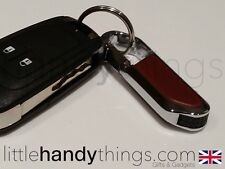 Chrome/Metal Clip On USB 8GB Flash Drive Pen Memory Stick Key Ring/Carabiner