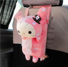 Pink Auto Car Seat Tissue Box Accessories Holder Paper Napkin Clip Storage Bag