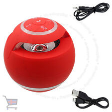 New Red Mini Speaker Bluetooth Wireless Hand-Free For PC Laptop Mobile UKES