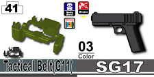 SG17+Tank Green Tactical Belt G1 (W187+W211) Compatible w/toy brick minifig Army