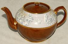 Vintage - SADLER Staffordshire Classic Roman Figures Brown Teapot w/ Gold Trim